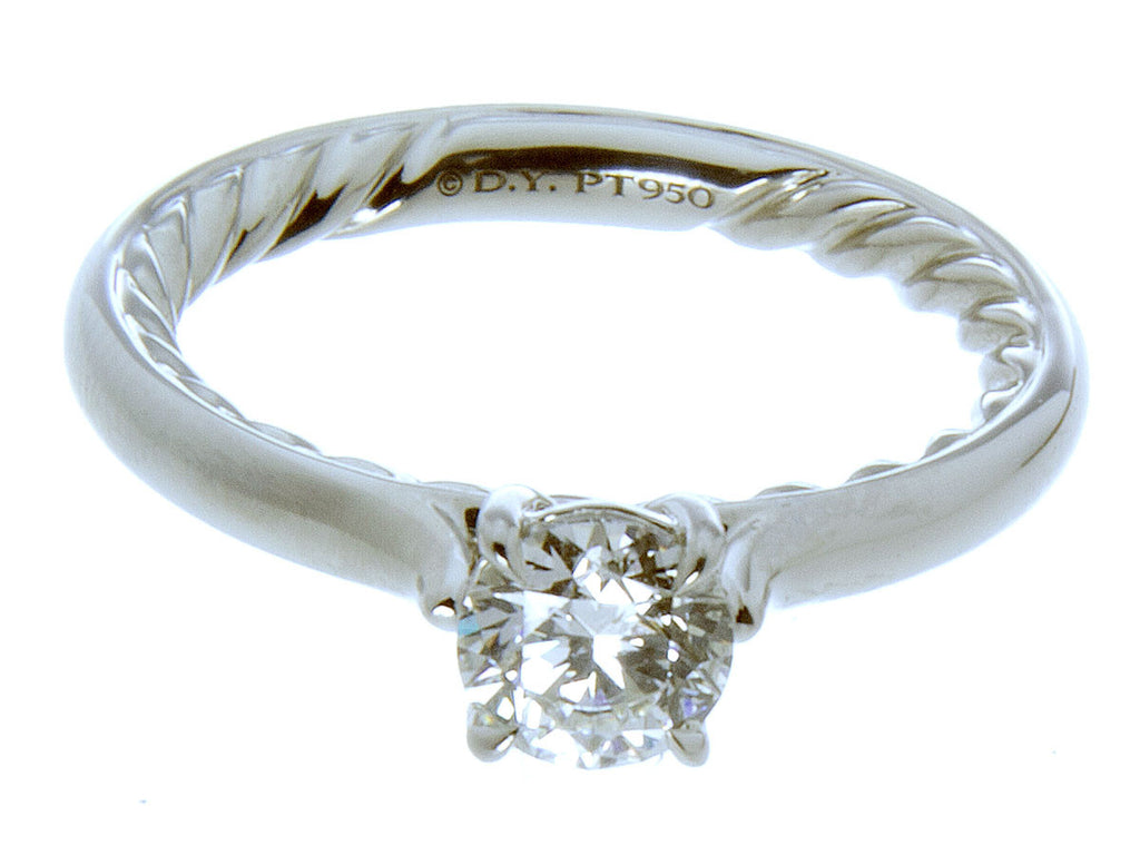 David Yurman Platinum Diamond Engagement Ring - Chicago Pawners & Jewelers