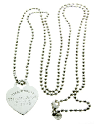 Tiffany & Co. Return to Tiffany Heart Tag on a Bead Necklace - Chicago Pawners & Jewelers