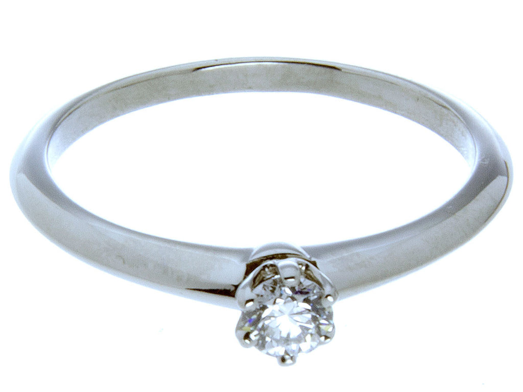 Tiffany Platinum Diamond 0.19ct Solitaire Engagement Ring