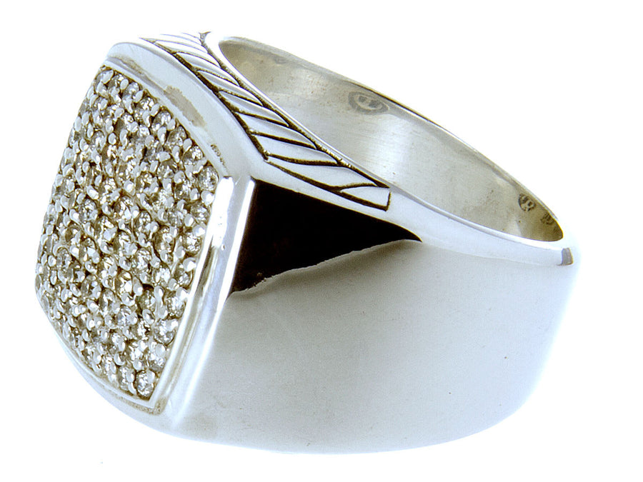 David Yurman Diamond Pave' Signet Ring - Chicago Pawners & Jewelers