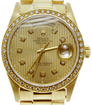 Rolex Day-Date President with Diamond Dial Bezel - Chicago Pawners & Jewelers