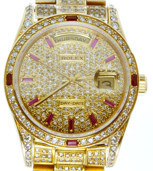 Rolex Day-Date Diamond & Ruby President - Chicago Pawners & Jewelers