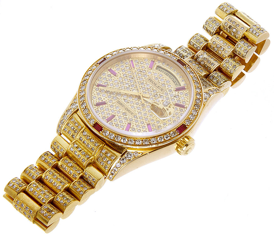 Rolex Day-Date Diamond & Ruby President