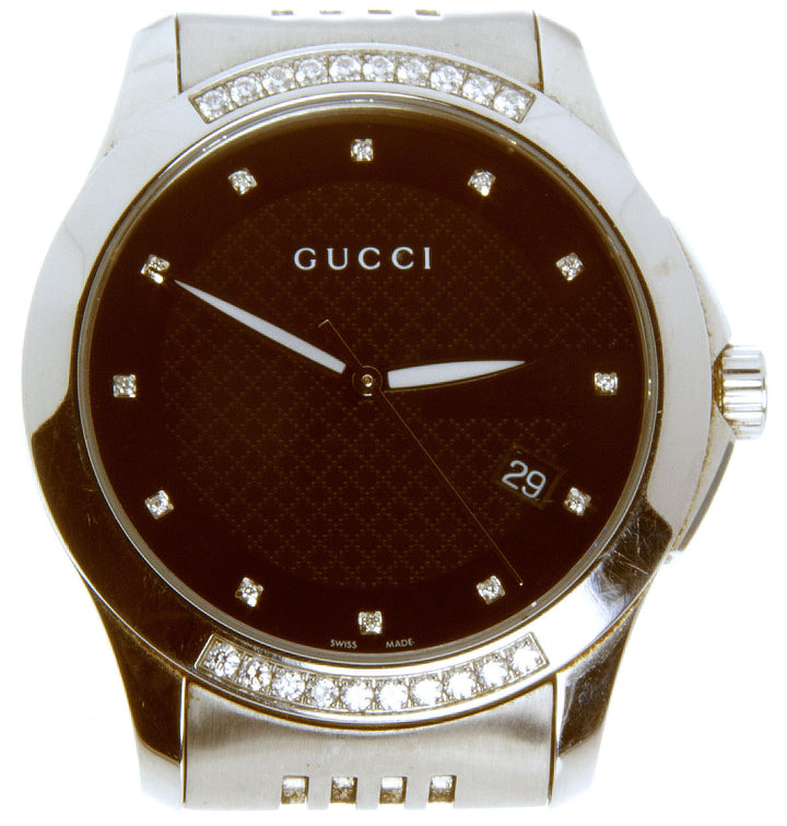 Gucci G-Timeless 126.4 Diamond Watch - Chicago Pawners & Jewelers