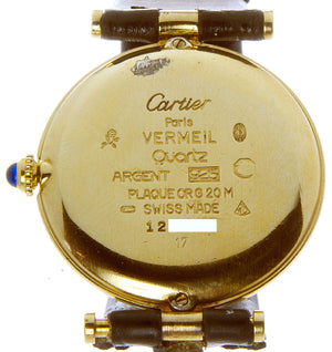 Cartier Must de Cartier Vermeil Round Watch - Chicago Pawners & Jewelers