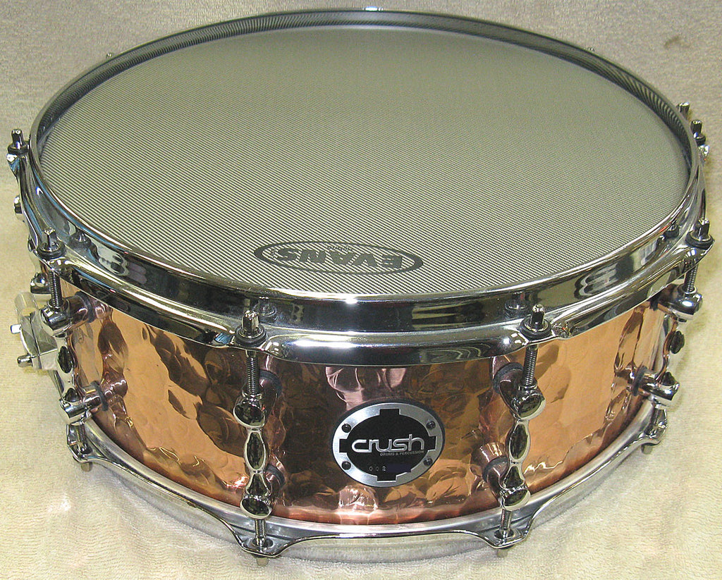 "Crush Hand Hammered Copper 14""x6"" Snare Drum - Chicago Pawners & Jewelers"