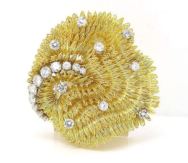French Designer Diamond Sea Urchin Pin - Chicago Pawners & Jewelers