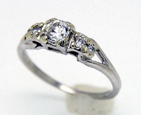 1950s Platinum Diamond Engagement Ring