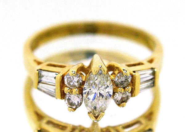 3/4ct Marquise Diamond Engagement Ring - Chicago Pawners & Jewelers