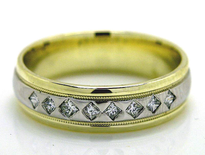 Platinum & 14K Diamond Wedding Band - Chicago Pawners & Jewelers