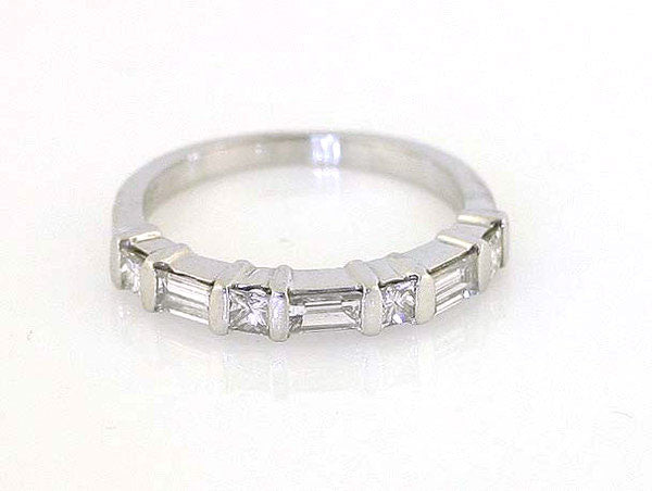 Platinum 0.61ct Diamond Band