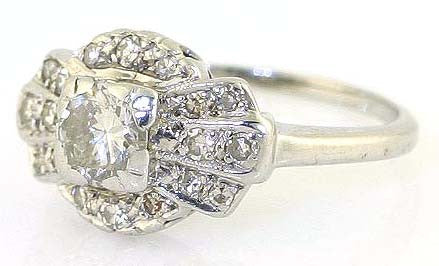 1930s Art Deco Engagement Ring - Chicago Pawners & Jewelers