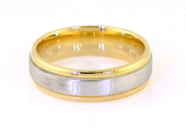Diana Platinum & 18KT Gold Wedding Band - Chicago Pawners & Jewelers