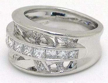Platinum 1.60ct Diamond Band Ring