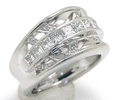 Platinum 1.60ct Diamond Band Ring - Chicago Pawners & Jewelers