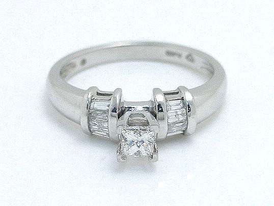 Platinum 1/2ct Princess Diamond Engagement Ring