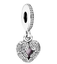 Pandora Angel Wings Pink Enamel Locket Charm -  791737CZ