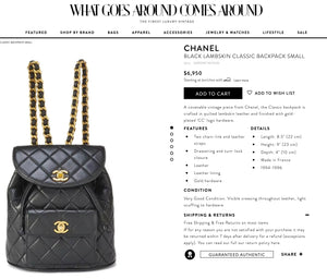 Chanel Quilted CC Classic Small Backpack - Chicago Pawners & Jewelers