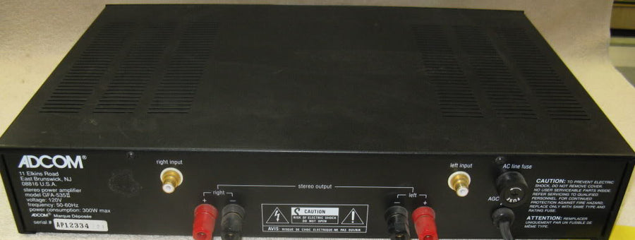 Adcom GFA-535 II Power Amplifier - Chicago Pawners & Jewelers