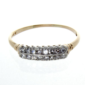Art Deco 2 Row Diamond Anniversary Band - Chicago Pawners & Jewelers