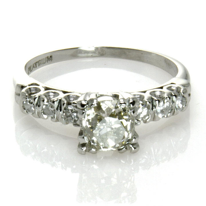 Antique Platinum Diamond Engagement Ring - Chicago Pawners & Jewelers