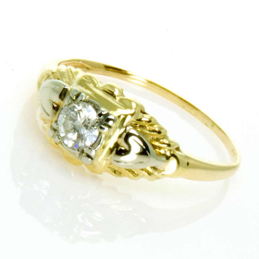 Art Deco Solitaire Diamond Engagement Ring - Chicago Pawners & Jewelers