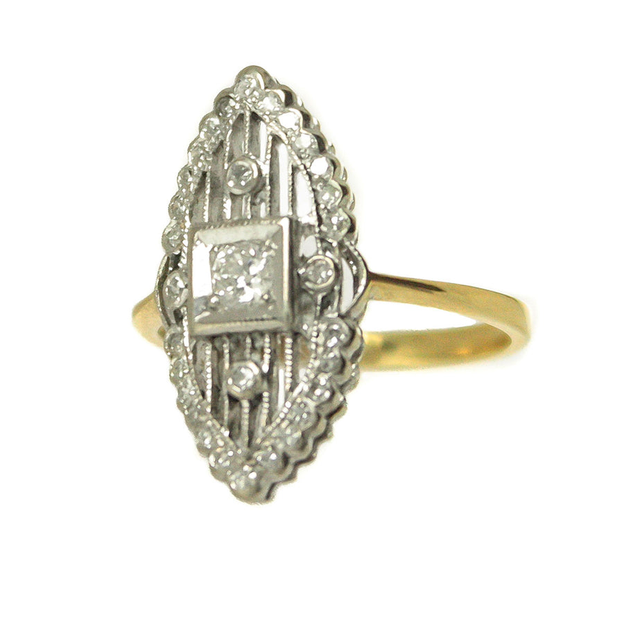 Art Deco Diamond Navette Ring - Chicago Pawners & Jewelers
