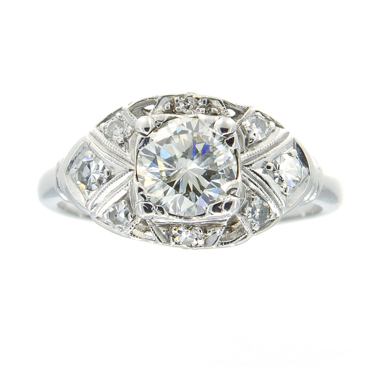 Art Deco 1.24ct Diamond Engagement Ring