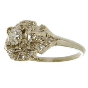 Platinum Art Deco Diamond Engagement Ring - Chicago Pawners & Jewelers