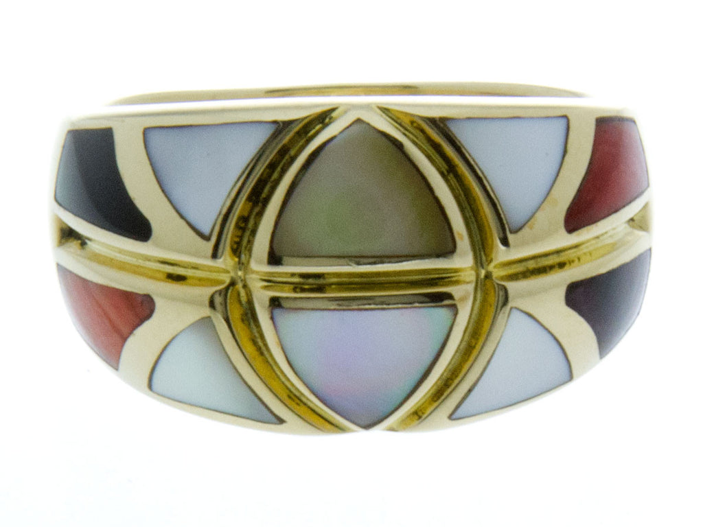 Asch Grossbardt Inlaid Gemstone Ring