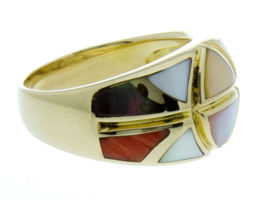 Asch Grossbardt Inlaid Gemstone Ring - Chicago Pawners & Jewelers