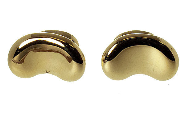Tiffany Elsa Peretti 18kt Gold Bean Cufflinks