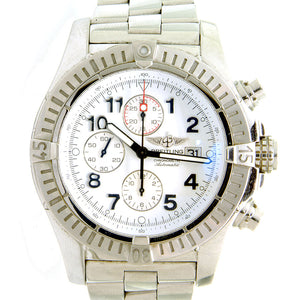 Breitling Super Avenger with White Arabic Dial - Chicago Pawners & Jewelers