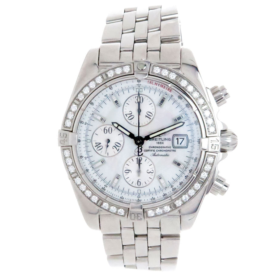 Breitling Chronomat Evolution with Factory Diamond Bezel - Chicago Pawners & Jewelers