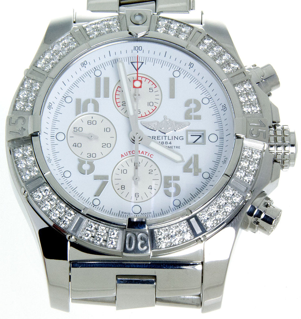 Breitling Super Avenger with Factory Diamond Bezel