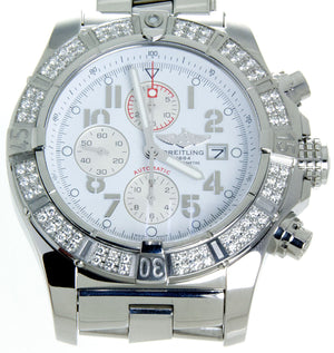 Breitling Super Avenger with Factory Diamond Bezel - Chicago Pawners & Jewelers