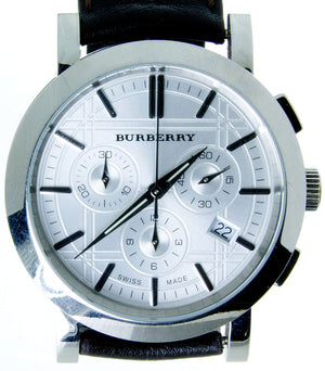 Burberry Heritage Silver Chronograph - Chicago Pawners & Jewelers