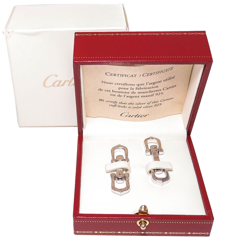 Cartier Elongated C Cufflinks - Chicago Pawners & Jewelers