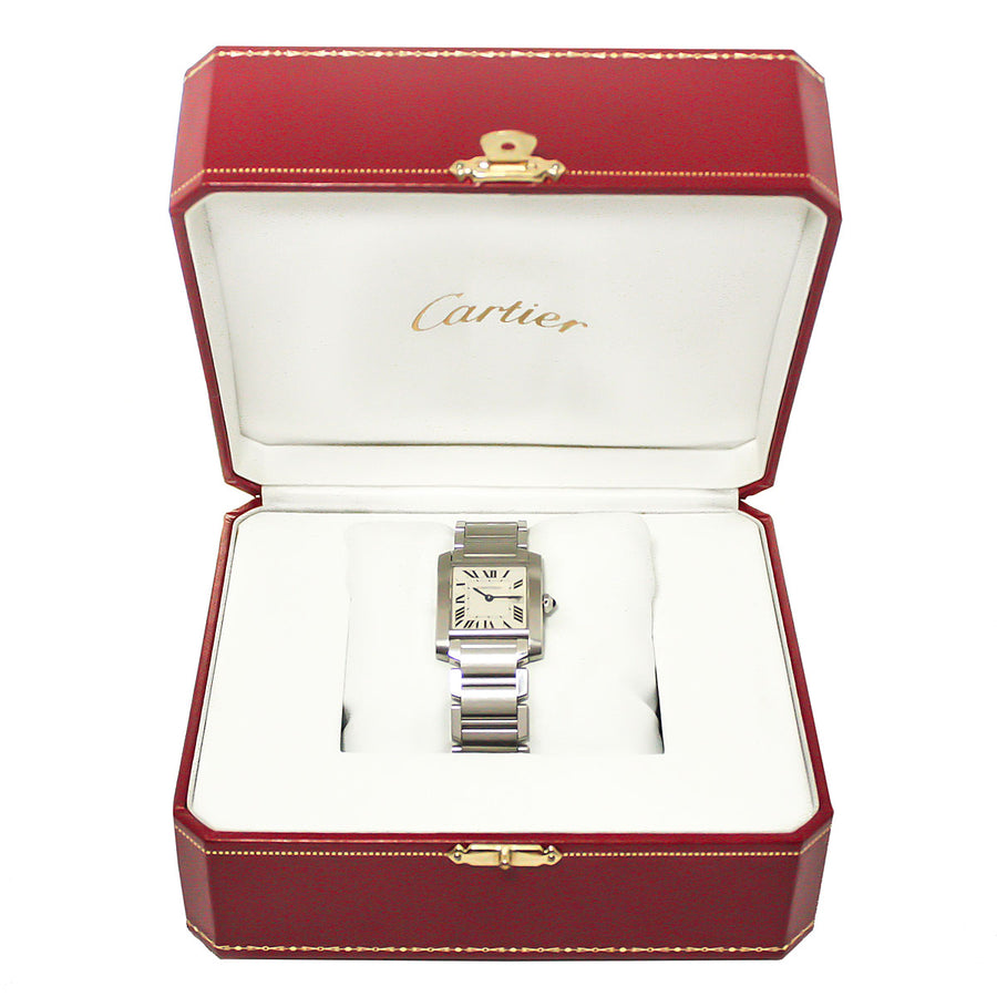 Cartier Tank Francaise Mid-Size with Box & Papers - Chicago Pawners & Jewelers