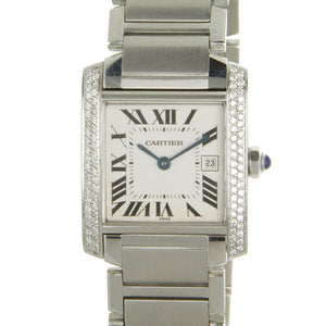 Cartier Tank Francaise Mid-Size with Diamonds - Chicago Pawners & Jewelers