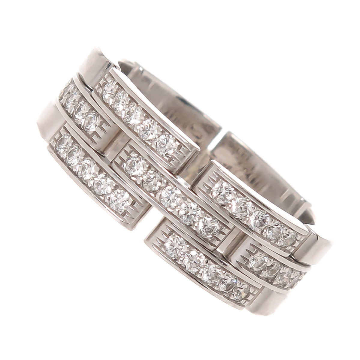 e7f022d6bdc91 Cartier Maillon Panthere Diamond Band Ring