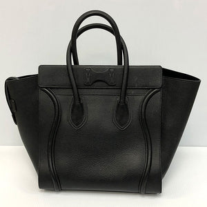 Céline Mini Luggage Black Drummed Calfskin - Chicago Pawners & Jewelers