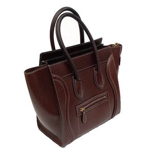 Celine Micro Luggage Bag in Natural Calfskin