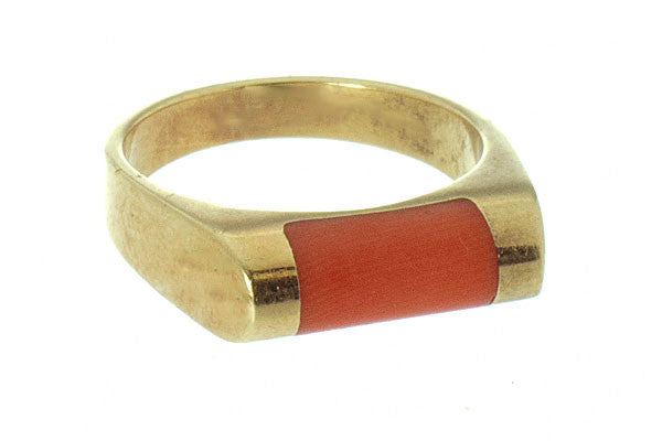1960s 14k Gold & Coral Ring - Chicago Pawners & Jewelers