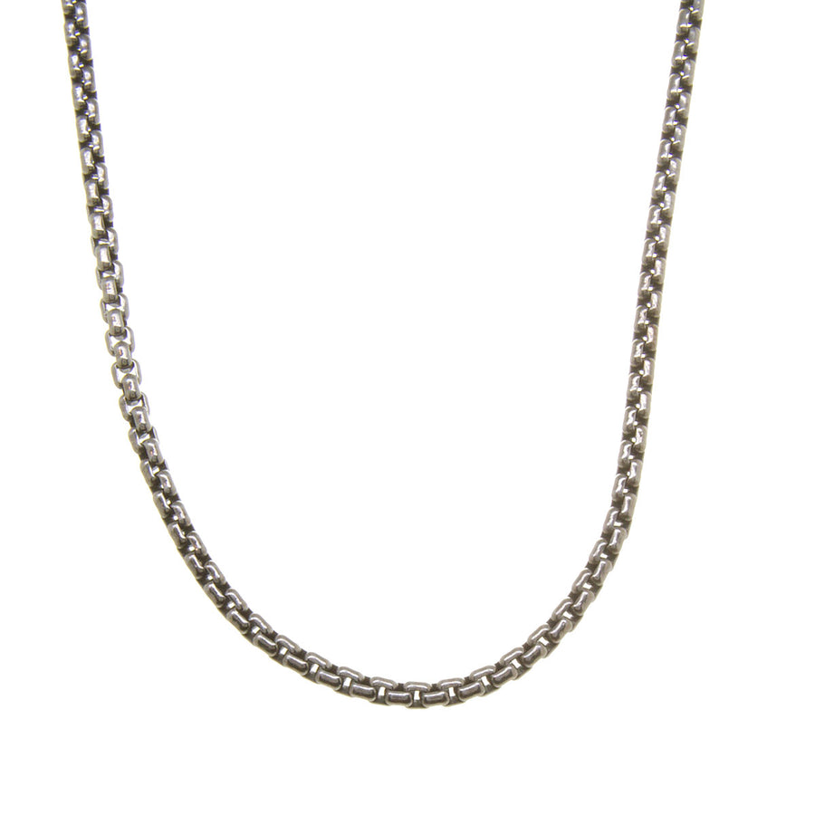 "David Yurman 36"" Small Box Chain - Chicago Pawners & Jewelers"