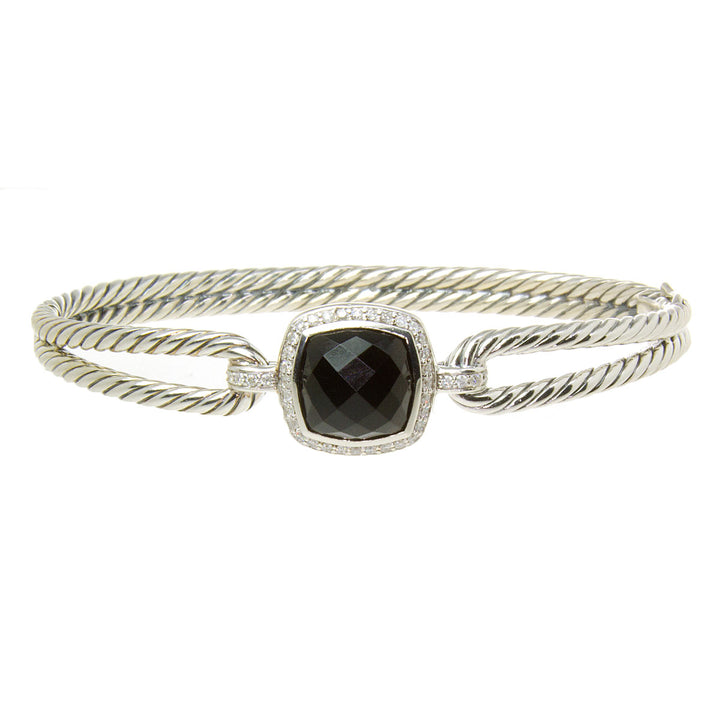 David Yurman Albion Bracelet with Black Onyx and Diamonds - Chicago Pawners & Jewelers