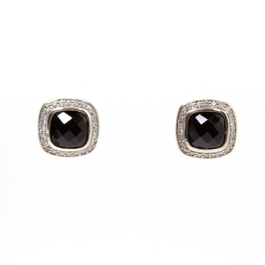 David Yurman Black Onxy & Diamond Albion Earrings - Chicago Pawners & Jewelers