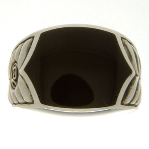 David Yurman Chevron Black Onyx Ring - Chicago Pawners & Jewelers