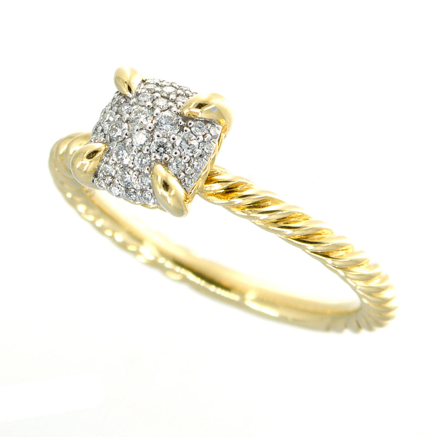 David Yurman Chatelaine Ring in 18K with Full Pavé Diamonds