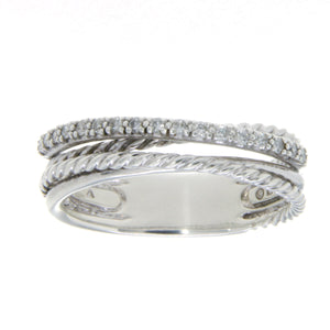 David Yurman Crossover Ring with Diamonds - Chicago Pawners & Jewelers